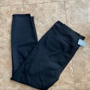 New Woman's Forever 21+ Distressed Black Jeans